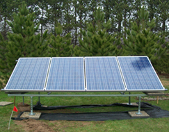 Stand alone solar panels.